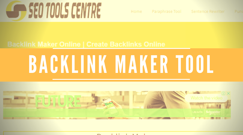 Backlink Maker Tool