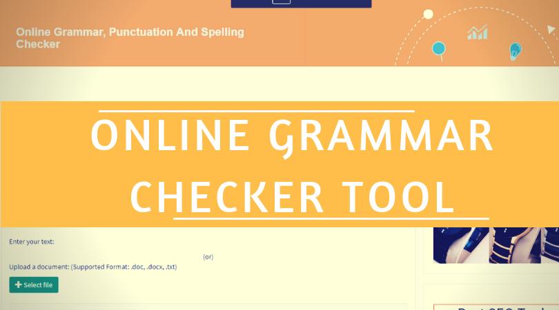 online grammar checker tool