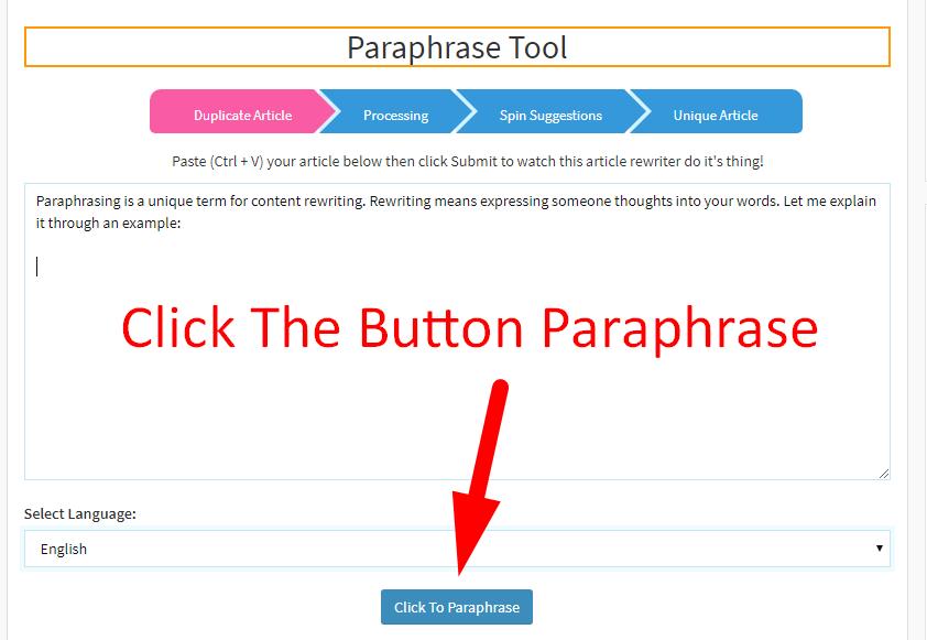 paraphrase sentence online