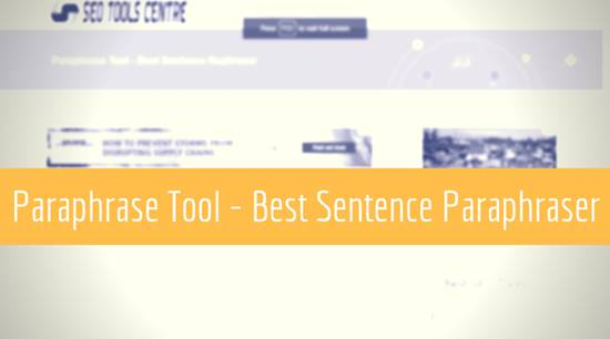 SEOToolsCentre's paraphrase tool