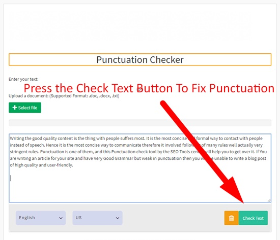 Punctuation Check Online Free