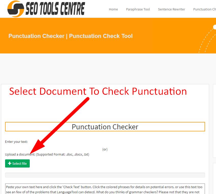 Using Comma Checker