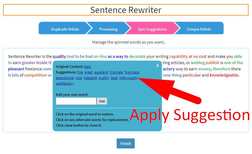 Sentence Rewriter - Best Rewording Tool   SEOToolsCentre