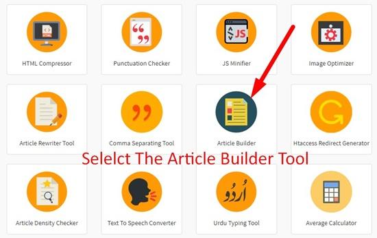 Article Bulider Tool