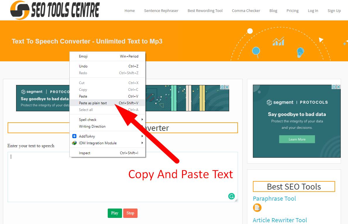 how to convert text to speech step 1