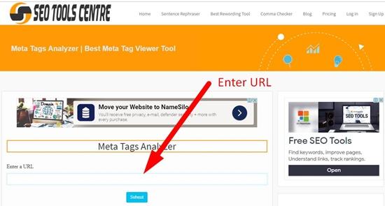 How to analyze meta tags step 1