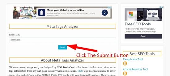 How to analyze meta tags step 2
