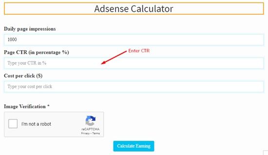 how to calculate adsense revenue step 2