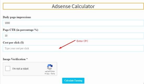 how to calculate adsense revenue step 3