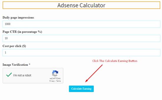 how to calculate adsense revenue step 5