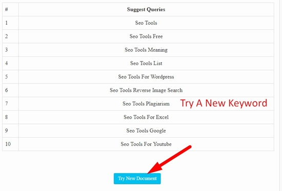 How use to Keyword Suggestion tool step 4