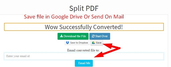 How to use PDF Spliter Tool step 5