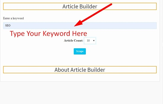 How to use article builder step 1