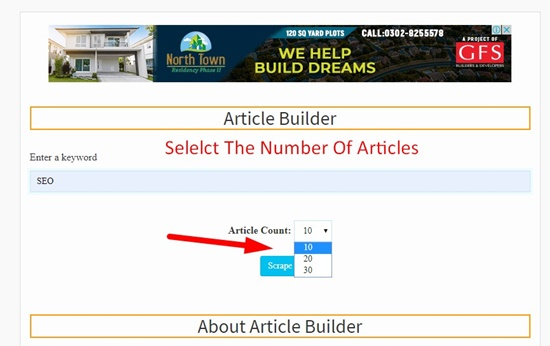 How to use article builder step 2