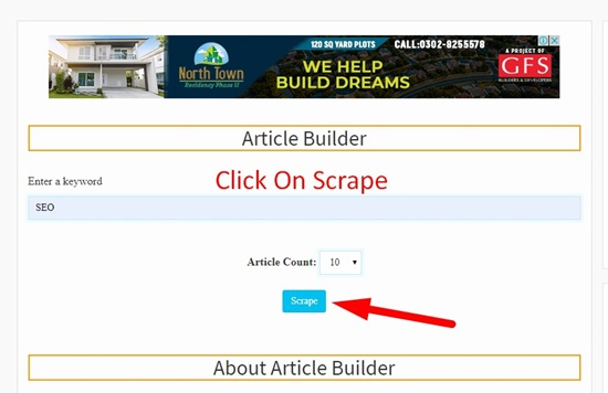 How to use article builder step 3