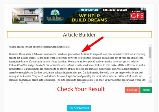 How to use article builder step 4