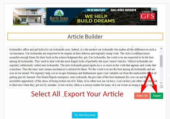 How to use article builder step 5