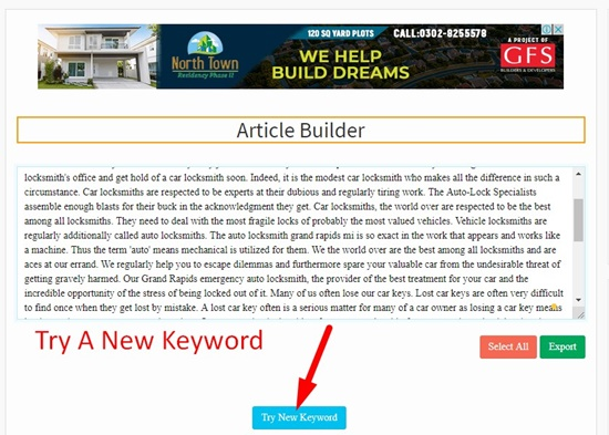 How to use article builder step 6