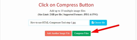 How use to Image Optimizer Tool step 3