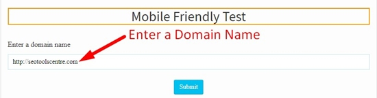 How use to Mobile Friendly Website Checker step 1