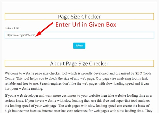How to use page size checker step 1
