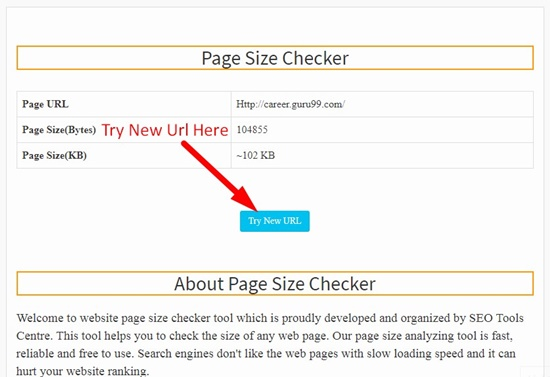 How to use page size checker step 4