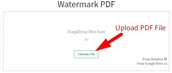 how to add watermark to pdf step 1