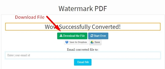 how to add watermark to pdf step 6