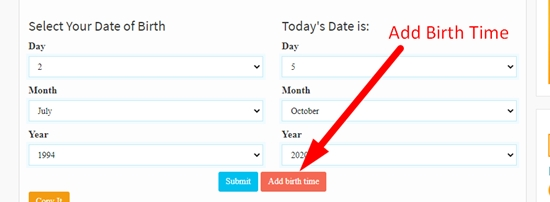 how to calculate age online step 4
