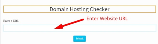 How to check domain hosting of any website step 2