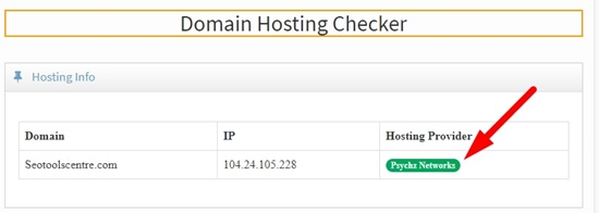 How to check domain hosting of any website step 4