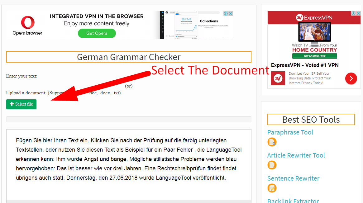 How to check german grammar step 3