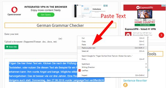 how to check the german grammar step 4