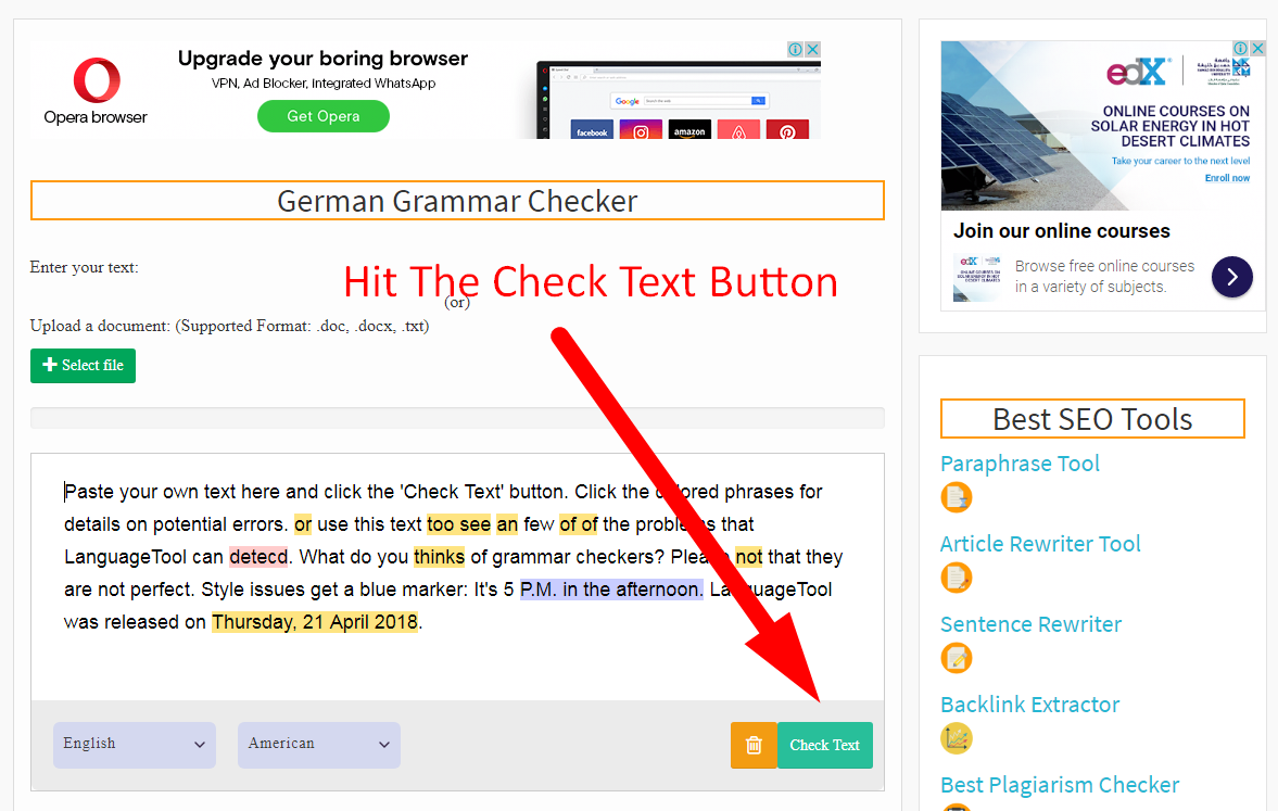 how to check the german grammar step 5
