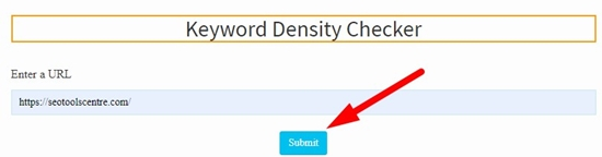 How to check keyword density step 3