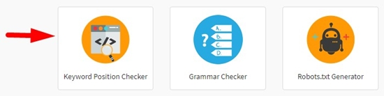 how to check keyword position step 1