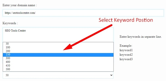 how to check keyword position step 4