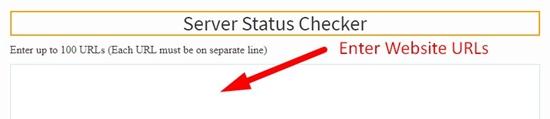 How to check website server status step 2