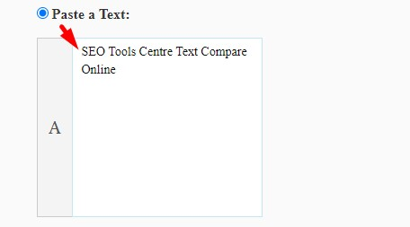 how to compare text online step 1