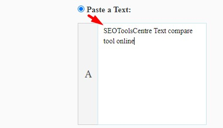 how to compare text online step 2