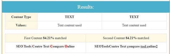 how to compare text online step 4