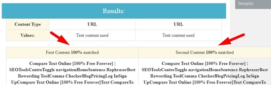 how to compare two urls online step 4
