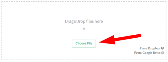 How to convert pdf to jpg online step 2