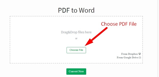How to convert pdf to word online step 1