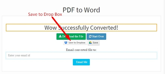 How to convert pdf to word online step 6