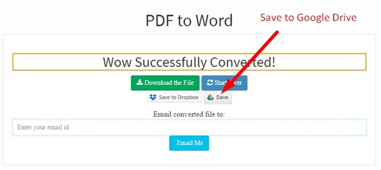 How to convert pdf to word online step 5