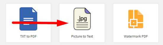 how to convert picture to text online step 1