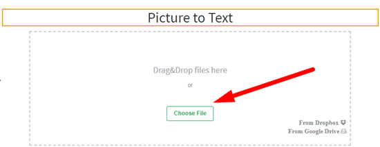 how to convert picture to text online step 2