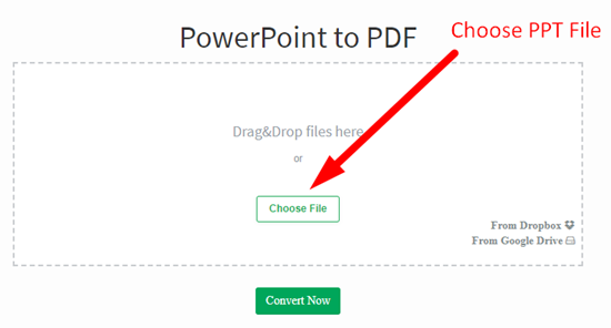 how to convert powerpoint file to pdf step 1