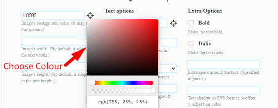 How to convert text to image online step 2